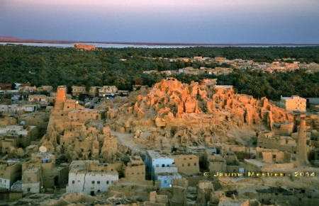 El shali o fortalesa medieval abandonada. Oasi de Siwa.